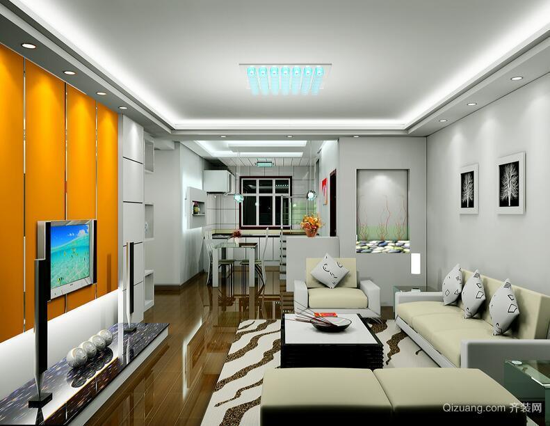 大户型现代简约风格电视背景墙装修效果图