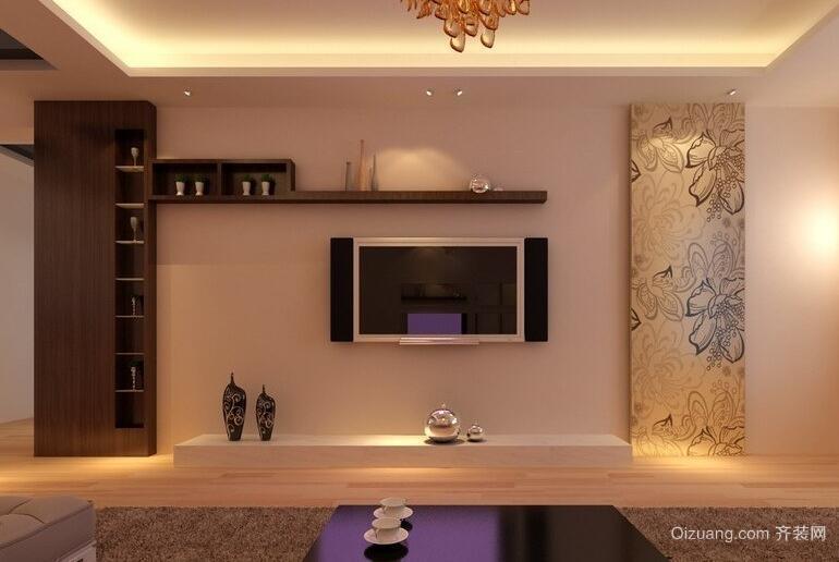 别墅蒙太奇硅藻泥电视背景墙装修效果图