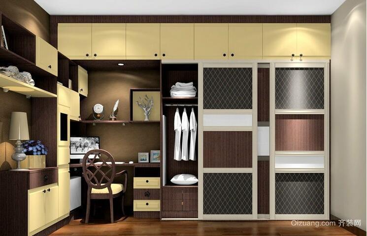 2016唯美的现代大户型欧式衣柜装修效果图