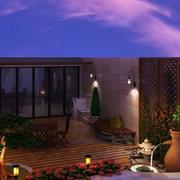 2016别墅型欧式风格阳台装修效果图实例
