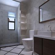 现代北欧风格大户型卫生间装修效果图鉴赏