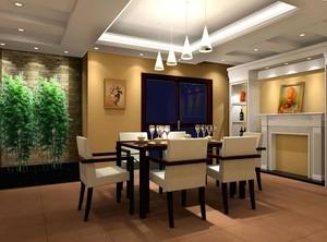 自建别墅90平米欧式餐厅吊顶装修效果图