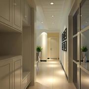 2016三居室欧式室内玄关装修效果图实例
