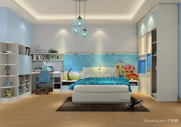 70平米欢乐海洋地中海风格儿童房装修效果图