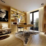 都市大户型简约风格书房设计装修效果图