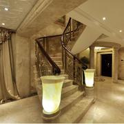 华丽唯美的大户型欧式楼梯扶手装修效果图