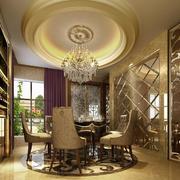 66平米小户型欧式餐厅吊顶造型效果图