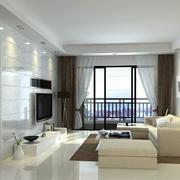 唯美别墅现代简约客厅室内设计装修效果图