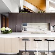 80平米时尚欧式家居开放式厨房装修效果图