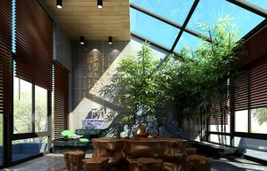 时尚都市家庭别墅型阳台设计装修效果图