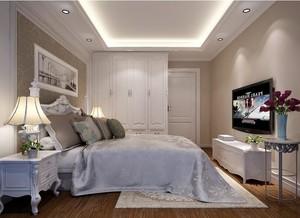 76平米精致现代欧式小卧室壁纸装修效果图