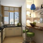 精致的欧式风格大户型厨房吧台装修效果图