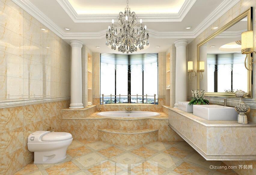 2016舒适单身公寓欧式浴室室内装修效果图