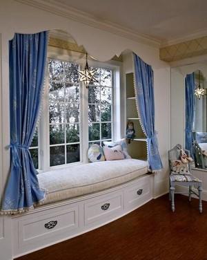 2016精美别墅欧式室内飘窗窗帘装修效果图