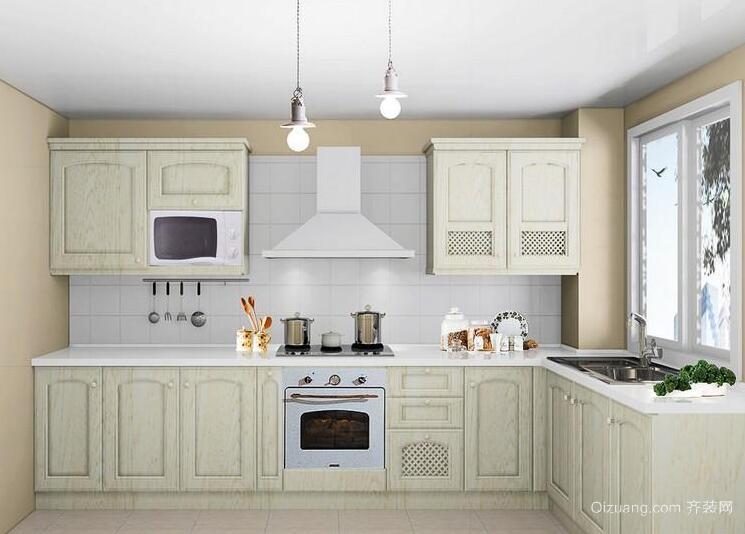 90平米大户型欧式厨房橱柜装修效果图鉴赏