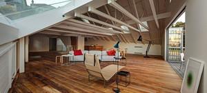 2016欧式风格大户型阁楼装修效果图实例