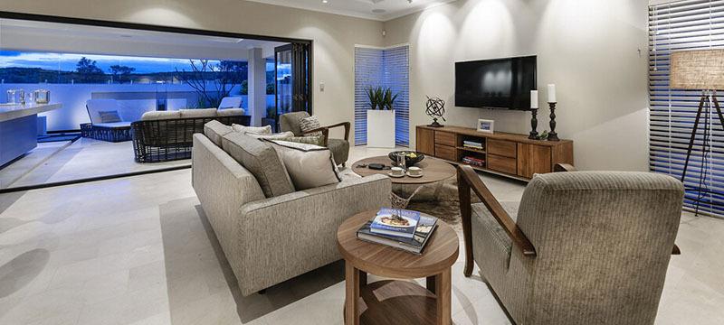 2016现代欧式别墅型客厅装修效果图实例