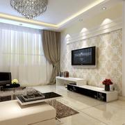 时尚大户型欧式客厅电视背景墙装修效果图