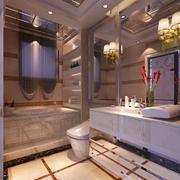 经典别墅型欧式风格卫生间装修效果图