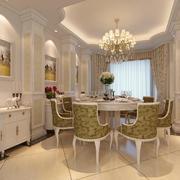 98平米大户型精美的欧式餐厅装修效果图实例