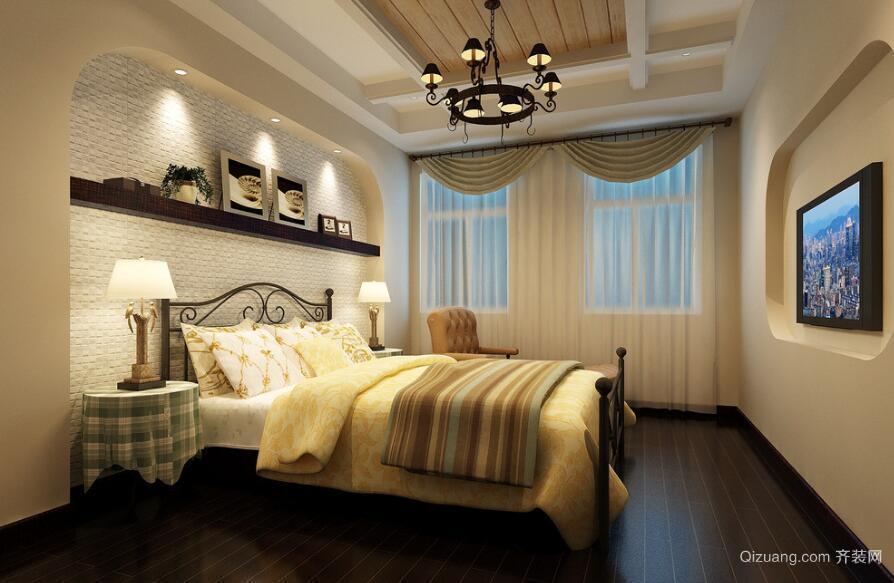 95平米大户型精美的简欧风格卧室装修效果图