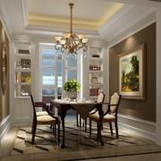 90平米大户型精美欧式室内餐厅装修效果图