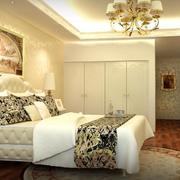 欧式精美的大户型卧室装修样板间效果图