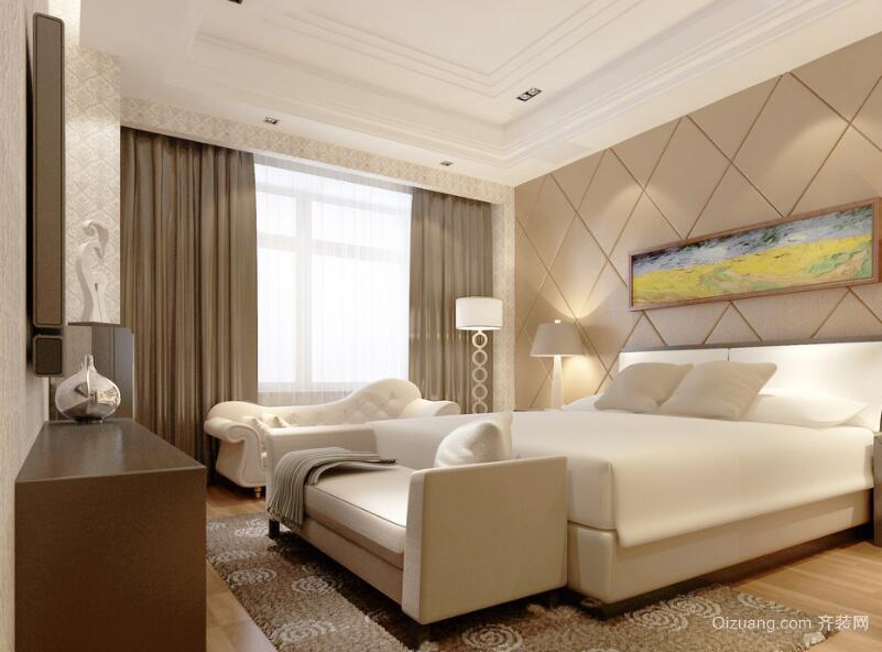 经典大户型欧式风格家装卧室装修效果图
