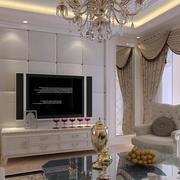 现代欧式大户型客厅背景墙装修效果图实例