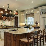 美式装修风格样板房厨房装修效果图实例
