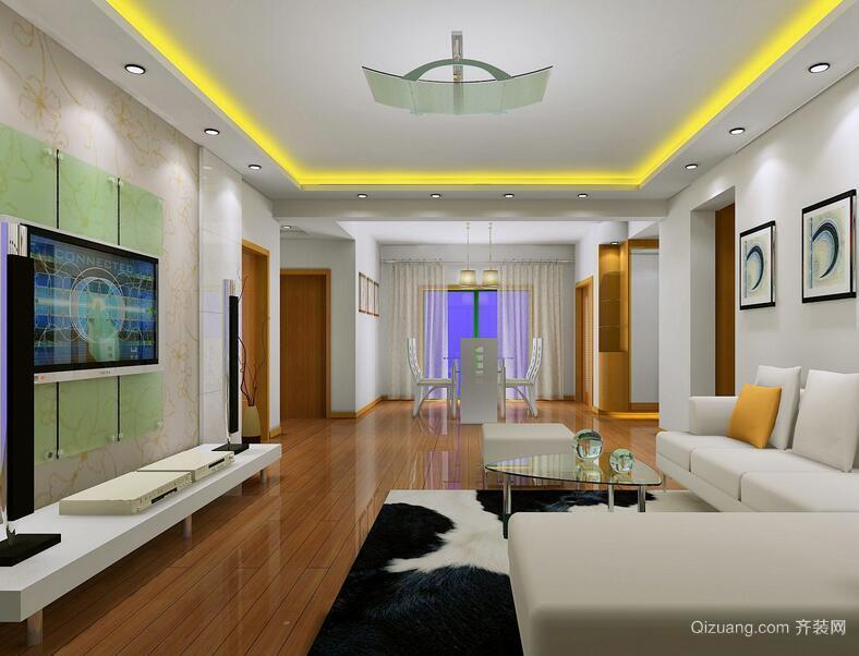 别墅型现代唯美欧式客厅装修效果图鉴赏