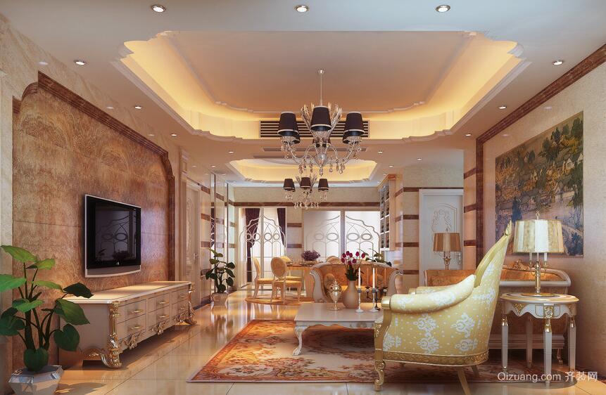 精致的欧式现代别墅客厅装修效果图