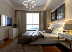 90平米大户型现代简约卧室装修效果图