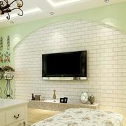 110平米大户型田园风格客厅装修效果图实例