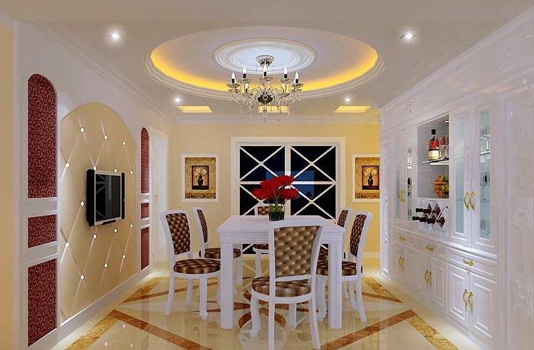 90平米大户型欧式室内酒柜装修效果图