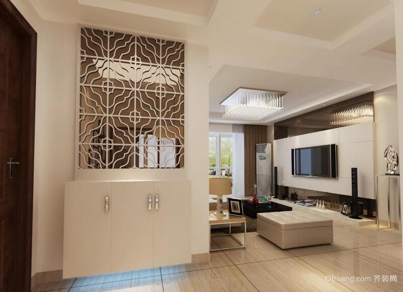 唯美别墅型欧式客厅玄关装修效果图鉴赏
