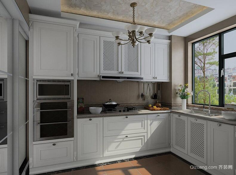 2016精致的大户型欧式厨房橱柜装修效果图