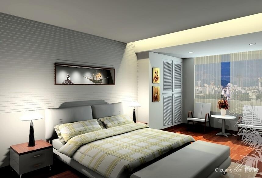 别墅型欧式卧室背景墙装修效果图鉴赏
