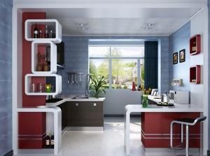 120平米大户型现代简约厨房吊顶装修效果图
