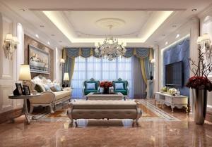 高贵欧式公寓式住宅客厅装修效果图鉴赏
