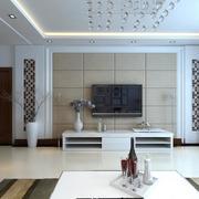 大户型现代简约客厅电视背景墙效果图