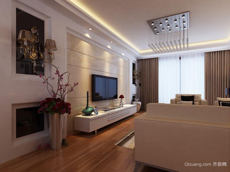 76平米欧式小户型客厅装修设计效果图鉴赏