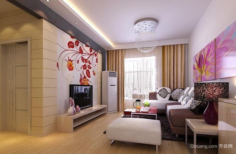 2016二居室欧式风格客厅装修效果图鉴赏