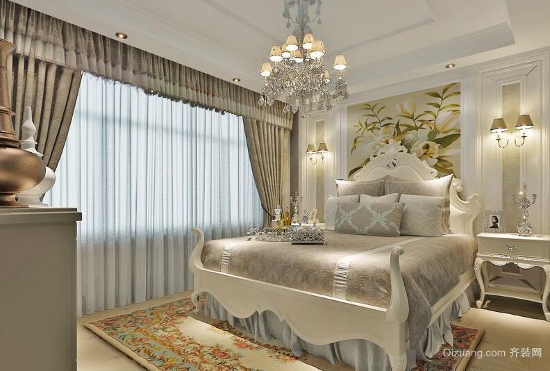大户型欧式风格飘窗窗帘装修效果图实例
