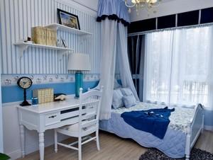 大户型地中海风格儿童房背景墙装修效果图鉴赏