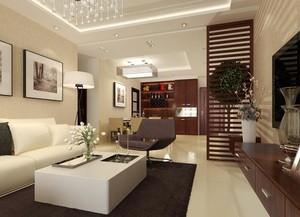 别墅型精美欧式客厅玄关隔断装修效果图