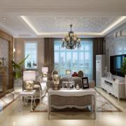 100平米大户型欧式客厅室内装修效果图鉴赏