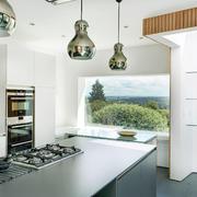 90平米大户型欧式风格厨房吊顶装修效果图
