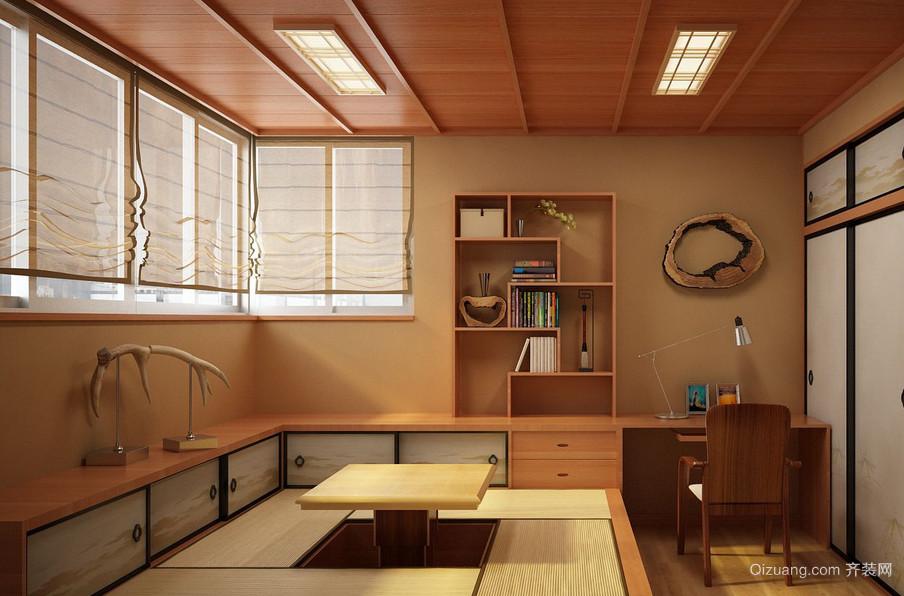 日式暖色调大户型榻榻米装修效果图