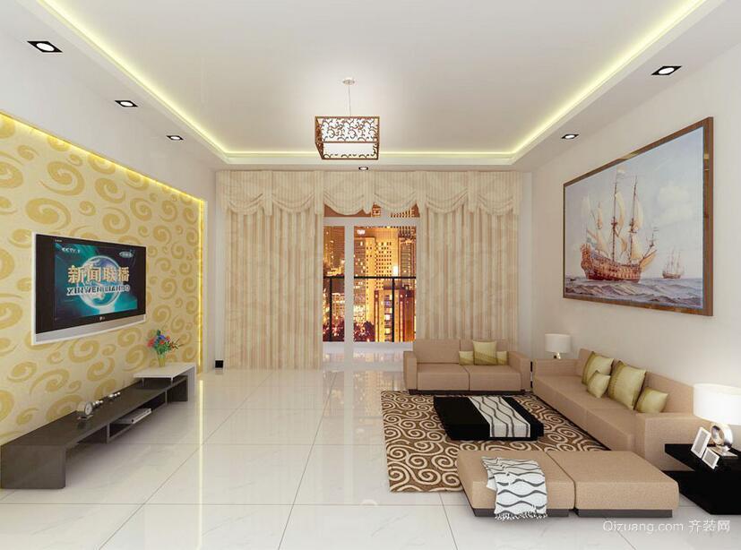 80平米小户型欧式风格客厅装修效果图实例
